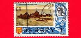 JERSEY - Usato - 1969 - Vedute - La Corbiere Lighthouse - 1 P - Jersey