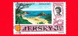 JERSEY - Usato - 1969 - Vedute - Portelet Bay - 3 ½ P - Jersey