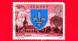 JERSEY - Usato - 1976 - Stemmi Araldici  - St Marys Church - Parish Of St Mary - 5 - Jersey
