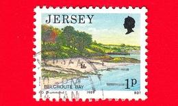 JERSEY - Usato - 1989 - Paesaggi - Vedute - Belcroute Bay - 1 - Jersey
