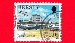 JERSEY - Usato - 1989 - Paesaggi - Vedute - Jersey Airport - 17 - Jersey