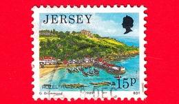 JERSEY - Usato - 1989 - Paesaggi - Vedute - Rozel Harbour - 15 - Jersey