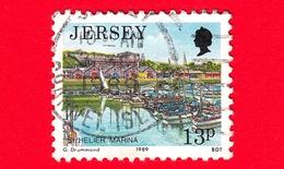 JERSEY - Usato - 1989 - Paesaggi - Vedute - St. Helier Marina - 13 - Jersey
