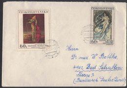 RB42  Czechoslovakia 1970 Cover To Germany, 2 Stamps, Alfons Mucha / Frantisek Muzica - Cecoslovacchia