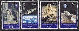 Fiji 1999 30th Anniversary Of 1st Moon Landing Set Of 4, MNH, SG 1054/7 (BP2) - Fiji (1970-...)