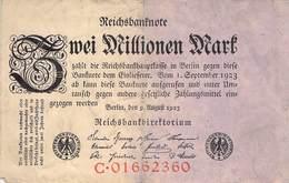 Zwei Mio Mark Reichsbanknote VG/G (IV) - [ 3] 1918-1933 : Repubblica  Di Weimar