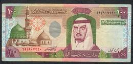 SAUDI ARABIA P25a 100 RIYALS 1984  #69 Signature 7a  XF NO P.h. - Saudi-Arabien
