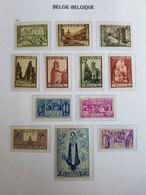 """Timbres Belgique N°363 à 374 """"Orval"""" - 1933 - Neufs - Cote Y&T: 900€ - Belgio"""
