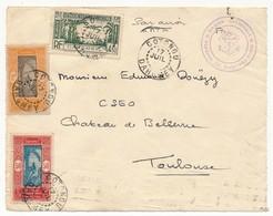"""DEVANT D'Enveloppe - Depuis Cotonou - Cachet Violet """"Marine Nationale Défense Du Dahomey-Togo"""" - Année ? - Postmark Collection (Covers)"""