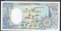 CONGO REPUBLIC P11 1000 FRANCS 1992 UNC. - Republic Of Congo (Congo-Brazzaville)