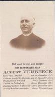 Doodsprentje Foto Pastoor August Verbeeck ° Dessel Desschel 1845-1919 Priester Mechelen Goyck Cortenberg Kortenberg - Images Religieuses