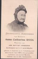 Doodsprentje Foto Anna Rosa (x Verbeeck ) ° Dessel Desschel + 1909 Cortenberg Kortenberg 94 Jaar - Images Religieuses