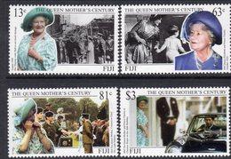Fiji 1999 Queen Mother's Century Set Of 4, MNH, SG 1059/62 (BP2) - Fiji (1970-...)