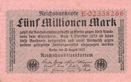 5 Mio Mark Reichsbanknote VG/G (IV) - 1918-1933: Weimarer Republik