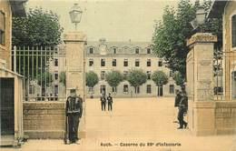 CPA 32 Gers Auch Caserne Du 88e Infanterie Militaria Colorisée Toilée - Auch