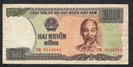VIETNAM P103 2000 DONG  1987#FM  RARE DATE         VF - Vietnam