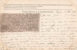 Carte Correspondance Franchise Militaire 1915 Article Presse Relatant Mort Ducros Sous Lieutenant 158 Rgt Infanterie - Marcophilie (Lettres)
