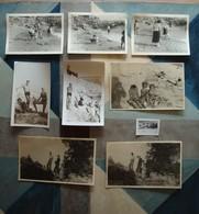 Lot De 9 Photos à Cassis (bord De Mer Surtout) D'une Famille Marseillaise - Années 1930 à 1950 - Places