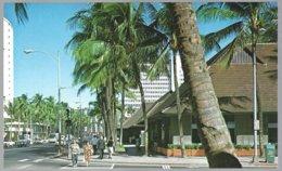 PC  Hawaii Island, Hononulu, Kalakaua Avenue Running Close To Waikiki Beach. Unused - Honolulu