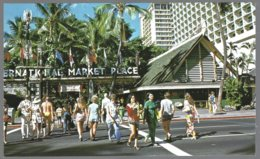 PC  Hawaii Island, Hononulu, International Market Place,shopping Mall Of Waikiki . Unused - Markets