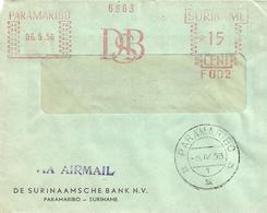 "Suriname 1956 Paramaribo Meter Francotyp ""C"" F002 Slogan DSB Bank Cover - Suriname ... - 1975"