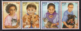 Fiji 2001 Protection From Cruelty To Children Set Of 4, MNH, SG 1123/6 (BP2) - Fiji (1970-...)