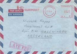 "Suriname 1996 Paramaribo Meter Francotyp-Postalia ""EFS3000"" LK3 Slogan Late Fee Handstamp Cover - Suriname"