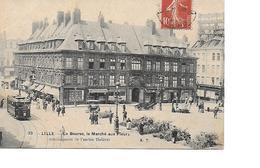 59 LILLE Cpa La Bourse, Le Marché Aux Fleurs 38 A.T - Lille