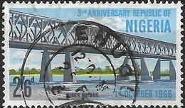 NIGERIA 1966 3rd Anniversary Of Republic - 2s.6d. North Channel Bridge Over River Niger, Jebba FU - Nigeria (1961-...)