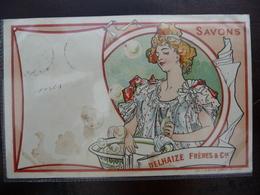 CPA - Savons Delhaize Frères & Cie - Derycker Mendel - Art Nouveau - Advertising