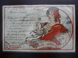 CPA - Cigares Delhaize Frères & Cie - Derycker Mendel - Art Nouveau - Publicité