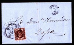 A6223) Spanien Spain Brief 1863 N. Zafra - 1850-68 Königreich: Isabella II.