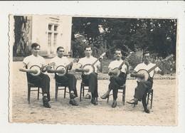 CARTE PHOTO GROPE DE MUSICIEN BENJO CPA BON ETAT - Music And Musicians