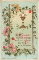 IMAGE PIEUSE CANIVET  L'EUCHARISTIE EST LE LIEN SUCRE  EDITION BLANCHARD ORLEANS  11 X 7.50 - Andachtsbilder