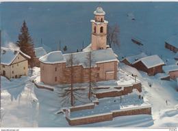 Bosco-Gurin, Die Kirche Im Schnee, Flugaufnahme - TI Tessin