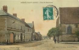 60 - MESNIL SAINT DENIS - Rue De Beaumont (toilée Couleur) - Other Municipalities