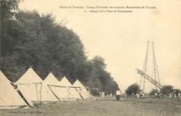 60 - THIEULOY - Manoeuvres De Picardie - Camp D'Aviation - Levage Tour Et Campement 1910 - Andere Gemeenten