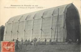 60 - THIEULOY - Manoeuvres De Picardie En 1910 - Champ D'Aviation - Hangar Du Dirigeable LIBERTE - Francia