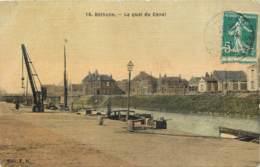 62 - BETHUNE - Quai Du Canal (toilée Couleur) - Bethune