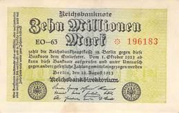 10 Mio Mark Reichsbanknote VF/F (III) EO-63 - 1918-1933: Weimarer Republik