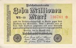 10 Mio Mark Reichsbanknote VF/F (III) WB-10 - 1918-1933: Weimarer Republik
