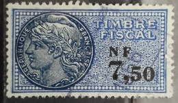 FRANCE Timbre Fiscal Revenue Fiscal Tax - Revenue Stamps
