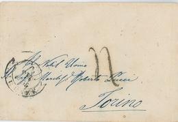 Brief Nach Torino Turin 1855 - Italia