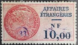 FRANCE Affaires Etrangeres Consular Service Revenue Fiscal Tax - Revenue Stamps