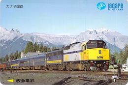 TRAIN - LOCOMOTIVE - RAILWAY - Carte Prépayée Japon - Treinen