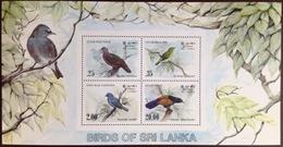 Sri Lanka 1983 Birds Minisheet MNH - Vogels