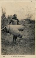 """1930 , KENYA & UGANDA , TARJETA CERTIFICADA MOMBASA - PRAGA , """" A BEEHIVE - KENYA COLONY """" , ABEJAS , APICULTURA, BEES - Insectos"""