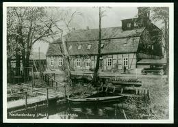 """Ak Germany, Neuhardenberg (Quilitz, Marxwalde)   Damm-Mühle (mill). Special Cancel """"Kulturfesttage Der Werktätigen"""" - Neuhardenberg"""