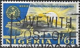 NIGERIA 1967 World Meteorological Day - 1s.6d. Passing Storm And Sun AVU - Nigeria (1961-...)