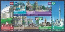 Neuseeland New Zealand 2002 Architektur Architecture Bauwerke Buildings Fernsehturm Bahnhof Kunstgalerie, Mi. 1979-4 ** - Neuseeland